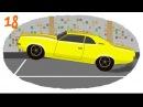 Мультики про машинки Раскраска про гоночные машины - Автогонка Формула 1, Картинг, Трофи.