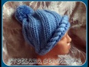 Спиральная шапочка (спицы). Knitting hat