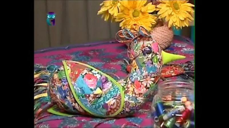 Лоскутное шитье. Шьем текстильную игрушку Птица счастья. Мастер класс