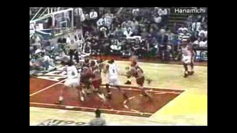 Michael Jordan dominating the game