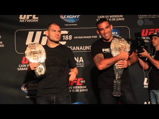 UFC 188 Media face-offs: Cain icy, Werdum goofy