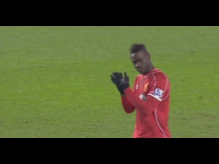 Balotelli FIRST Goal for Premier League! Liverpool vs Tottenham 3:2 10/02/2015