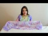 Видео мастер-класс по японскому узелковому батику Шибори, техника Араши. Роспись шёлкового шарфа.