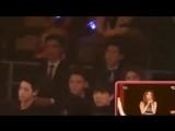 MAMA 2014 EXO(focus) watching Girls Day + Ailee - Something + Dont Touch Me - Problem