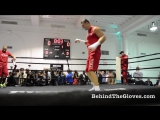 Wladimir Klitschko shadowboxing as Rosie Perez Michael Buffer on