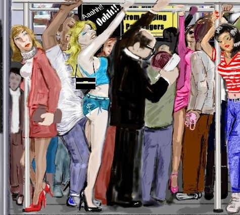Женщины лапоют хуй в транспорте фото 344-986