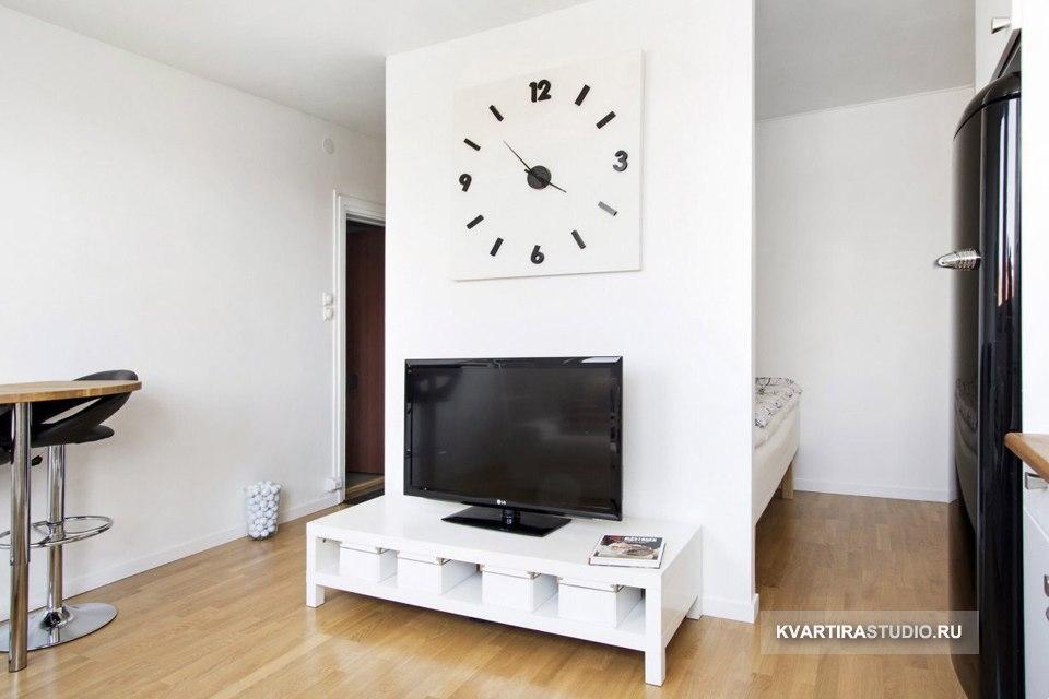 Интерьер малогабаритной квартиры-студии 22 м в Стокгольме / Швеция - http://kvartirastudio.