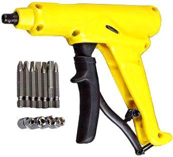 Набор Отвертка-автомат пистолетная, 12 предметов   ТЕВТОН