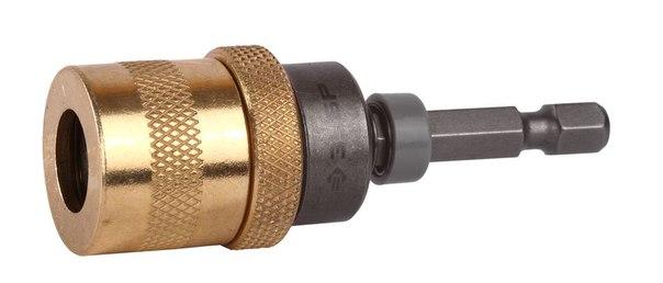 """Адаптер """"ЭКСПЕРТ"""" магнитный для бит, фиксатор, ограничитель глубины вворачивания шурупов, 60мм   ЗУБР"""