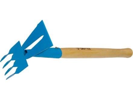 """Рыхлитель 4-зубый, витой зуб, комбинированный, профиль """"трапеция"""", дерев. рукоятка   СИБРТЕХ"""
