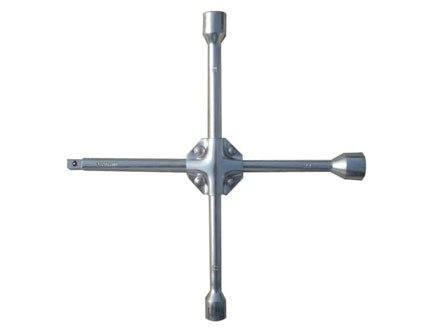 Ключ-крест баллонный, 17 х 19 х 21 х 22 х 1/2 , усиленный, с переходником на 1/2   STELS