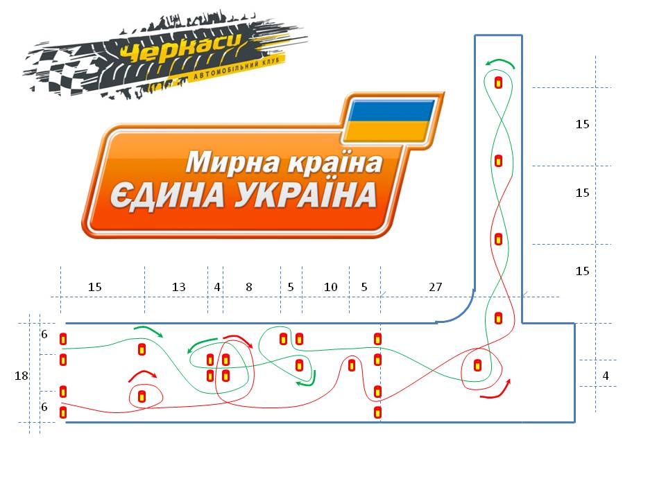 Фігура на І етап Національних змагань з автомобільного слалому «Мирна країна – єдина Україна» м. Черкаси 7.06