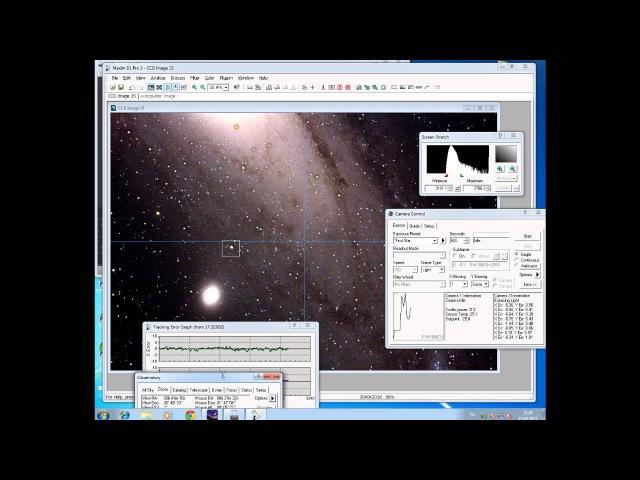 Telescope online M31 галактика Андромеда