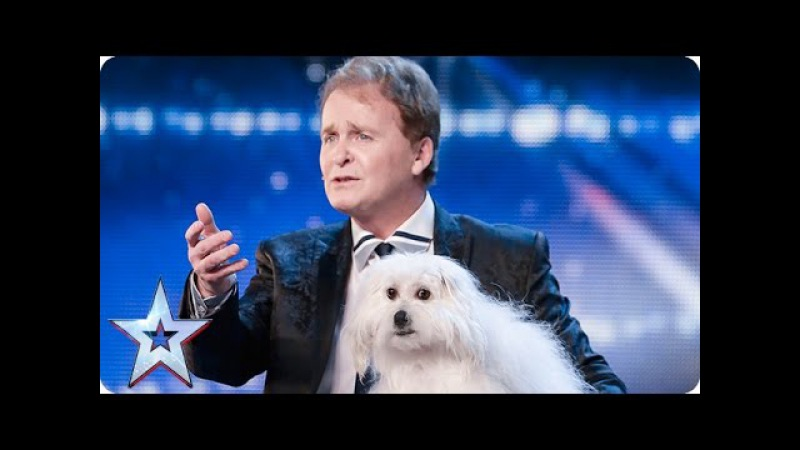 Marc Métral and his talking dog Wendy wow the judges | Audition Week 1 | Britain's Got Talent 2015