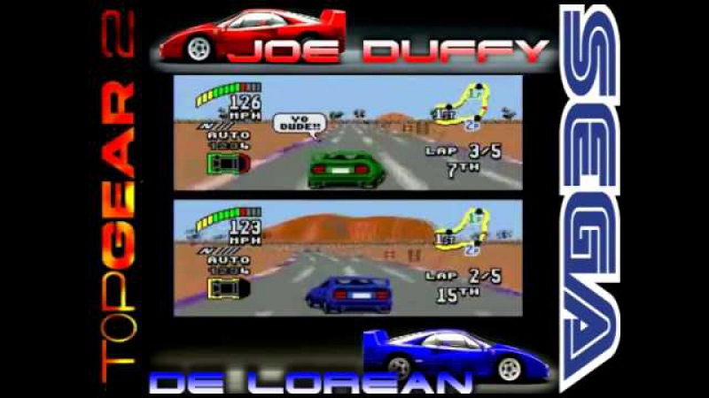 Top Gear 2 (JOE DUFFY De Lorean) Sega Genisis