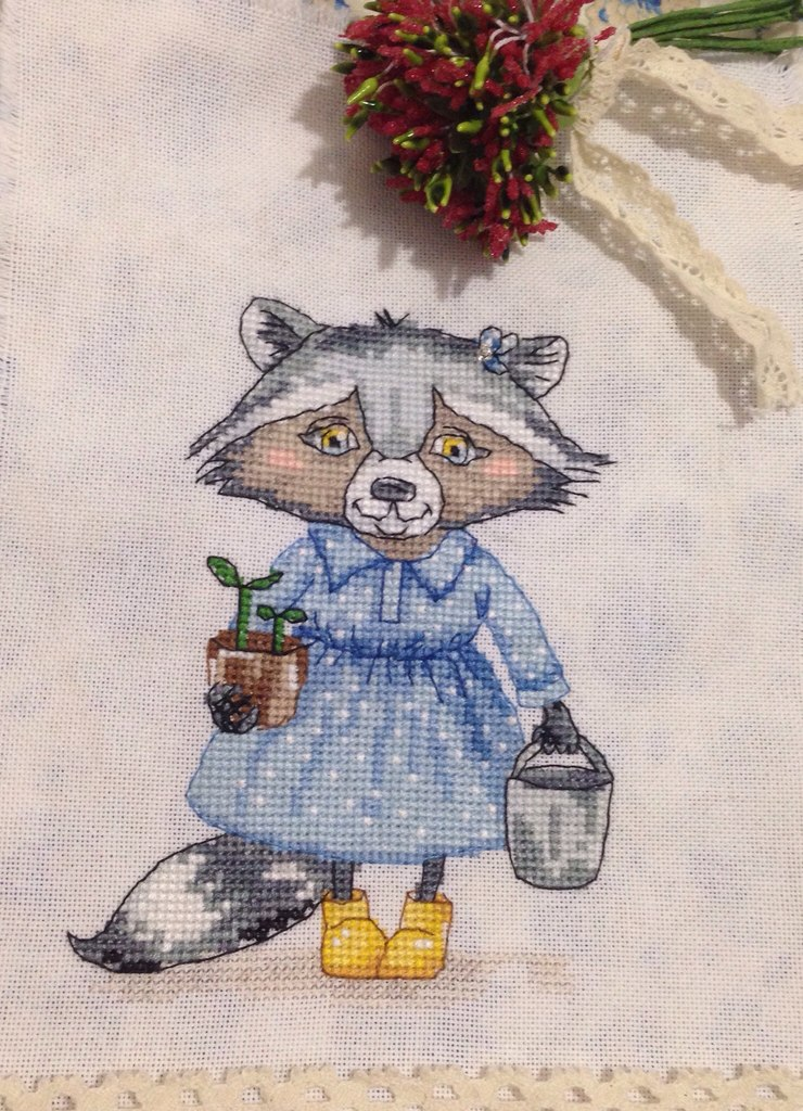 Схема вышивки садовник