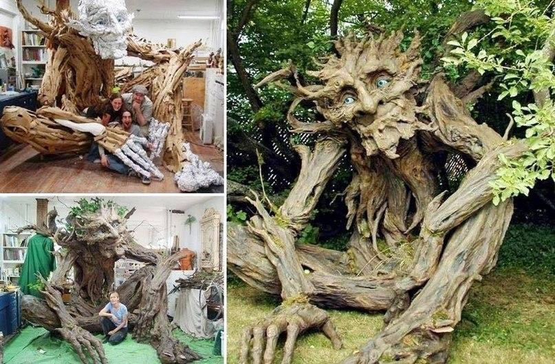 Поделки из корней деревьев и веток