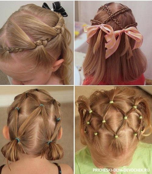 Прически для девочки на средние волосы своими руками