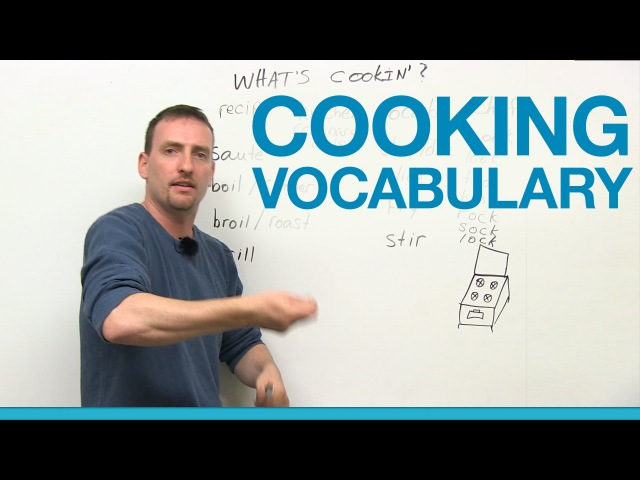 Cooking Vocabulary in English chop grill saute boil slice