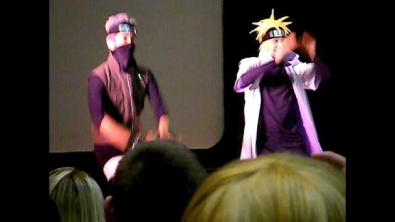 KakashiMinato Dance skit (Kawaii Kon 2011)