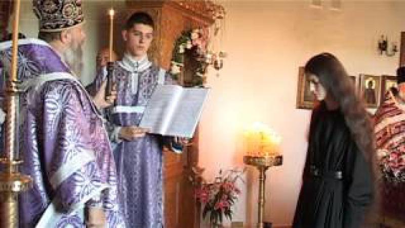 Первый иноческий постриг со времени возрождения Спасского женского монастыря г. Кобрина.
