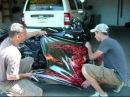 2008 Kawasaki Ninja 250R Vinyl Graphic Flame Wrap