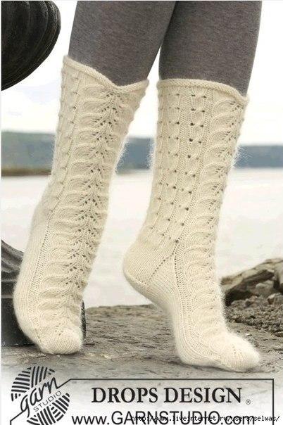 Женские ажурные носки (3 фото) - картинка