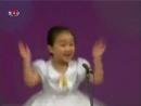 Дети таланты поют.КНДР. Девочка смешно поёт.