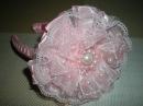 Ободок с нежным цветком для маленькой принцессы своими руками. / DIY Flowers Kanzashi
