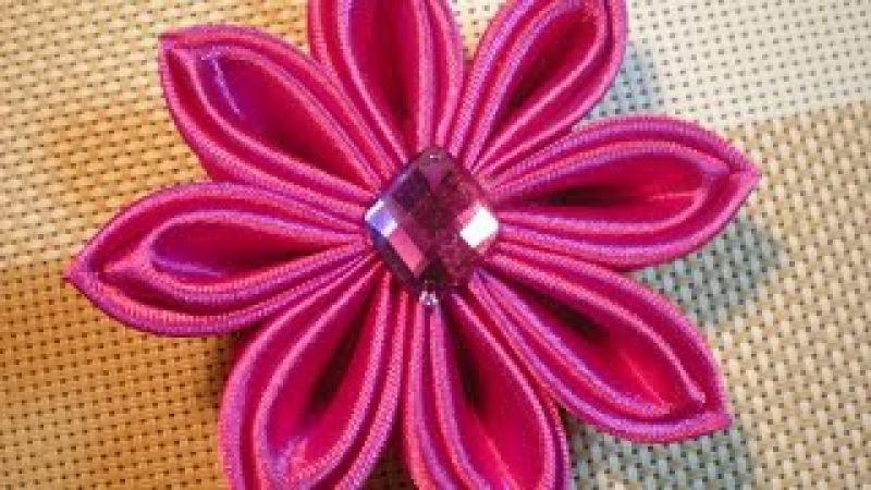 Цветок Канзаши мастер- класс. Осваиваем новые лепестки. / DIY Flowers