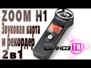 ZOOM H1 - Звуковая карта и аудио рекордер 2 в 1 + Запись без шумов с хорошим качеством - тест