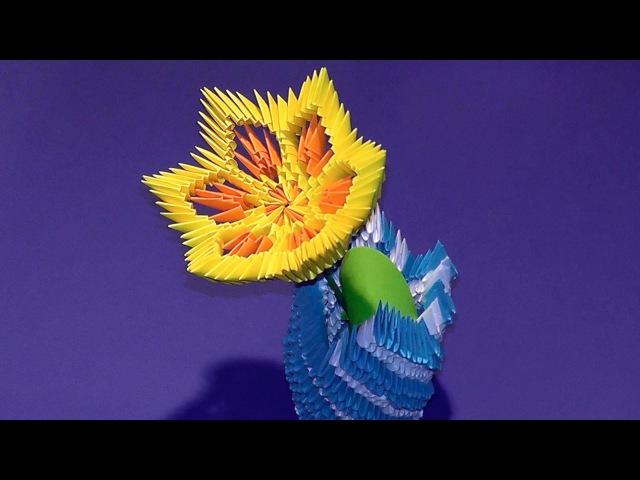 Модульное оригами цветы лотос лилия мк