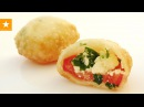 Пирожки Бомбочки с самой вкусной начинкой помидоры творог зелень Рецепт без яиц и дрожжей от Мармеладной Лисицы
