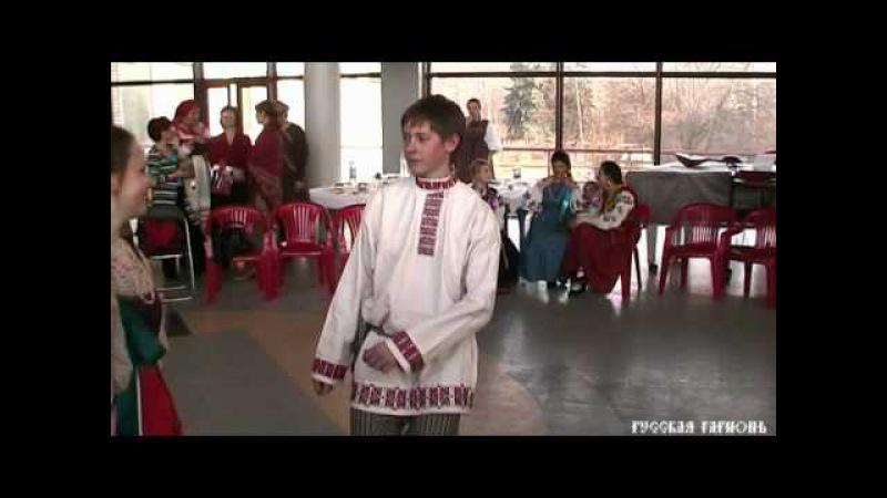 Русская пляска Игра в платочек