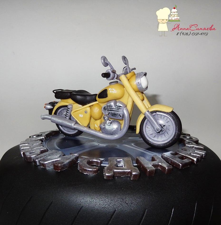 Мотоцикл на торт своими руками