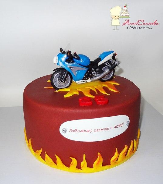 Торт с мотоциклом фото