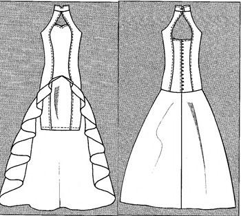 Как сшить платье со шлейфом своими руками