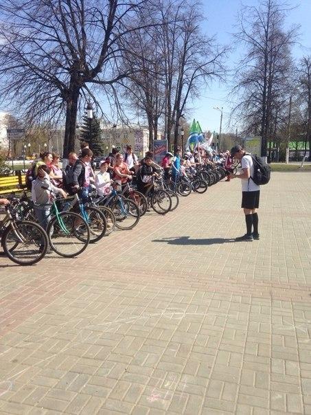 В Зеленодольске прошел велопробег, посвященный 70-летию Великой Победы