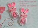 Como hacer clips de conejitos de cinta para pascua easter bunny clips