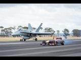 F1 Car vs FA-18 Hornet (Red Bull's Daniel Ricciardo Feels The Force)