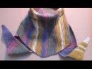 Шарф Бактус Вязание спицами для начинающих видео