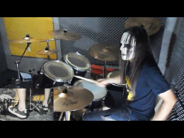 Slipknot - Surfacing Drum Cover With Joey Jordison Mask drum play-through by Jordan