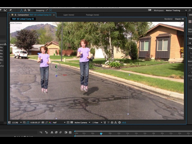 3D Camera Tracker Adobe After Effects Floating Stills One Direction