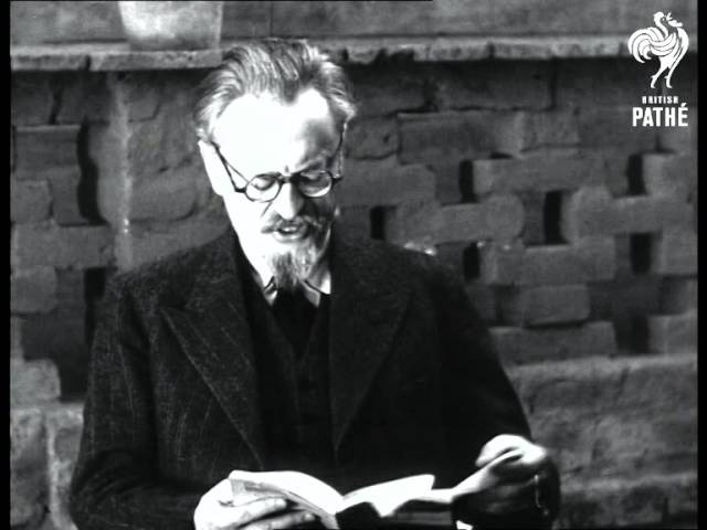 Trotsky In Mexico Talks On Moscow Trials (1938)