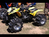 4x4 400EX WALKS ON WATER 600EX! Awesome Skimming! CBR600RR Engine on ATV! Hydroplaning Quad!!!