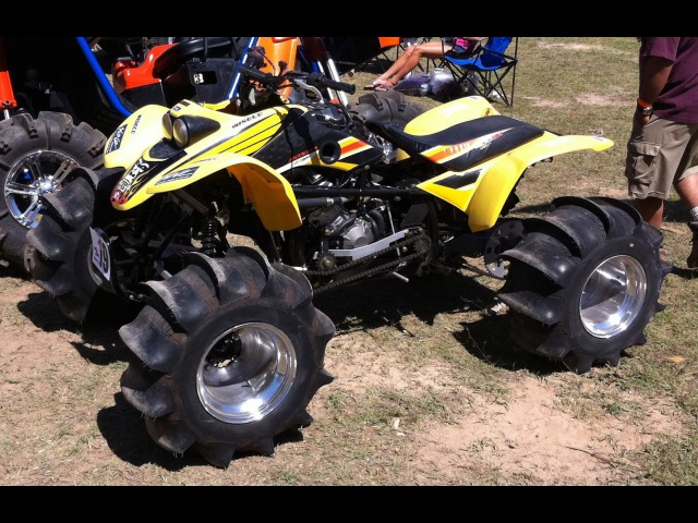 4x4 400EX WALKS ON WATER 600EX! Awesome Skimming! CBR600RR Engine on ATV! Hydroplaning Quad