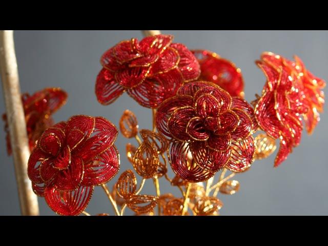 Бисероплетение по гречески роза