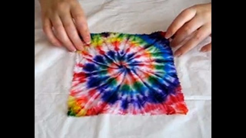 Видео мастер-класс по узелковому батику узор «спираль» tie-dye DIY