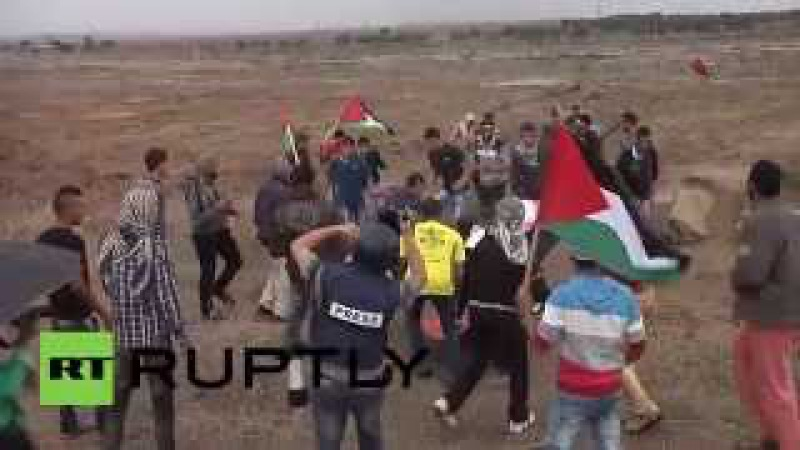 State of Palestine: Israeli forces shoot Palestinian protester in Gaza Strip