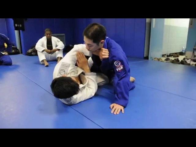 Half Guard Triangle Kimura Ezekiel and Baseball Bat Choke with Professor Kris Kim Seoul Korea